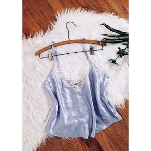 🌿 90's Vtg Lavender Satiny Floral Camisole 🌿